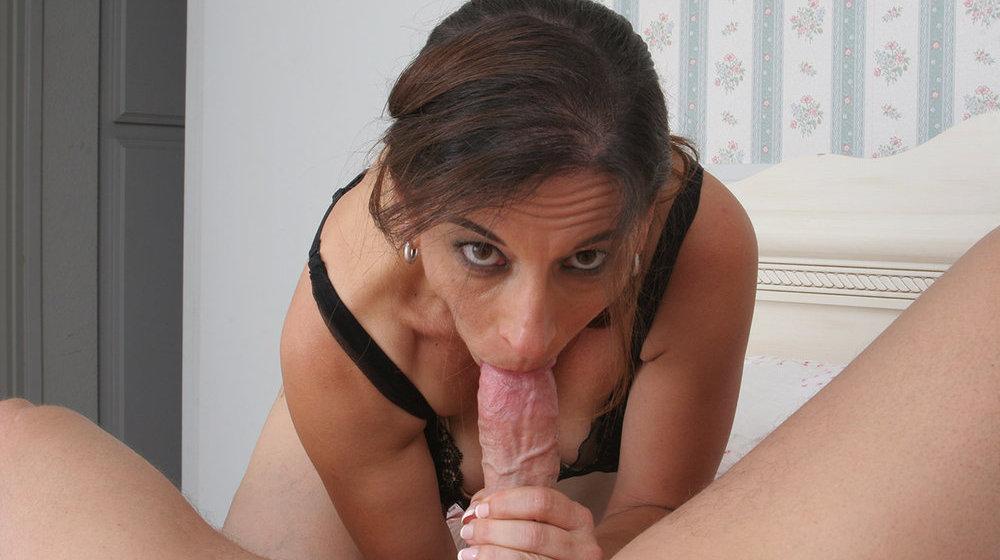 Mature Brunette Wife Blowjob